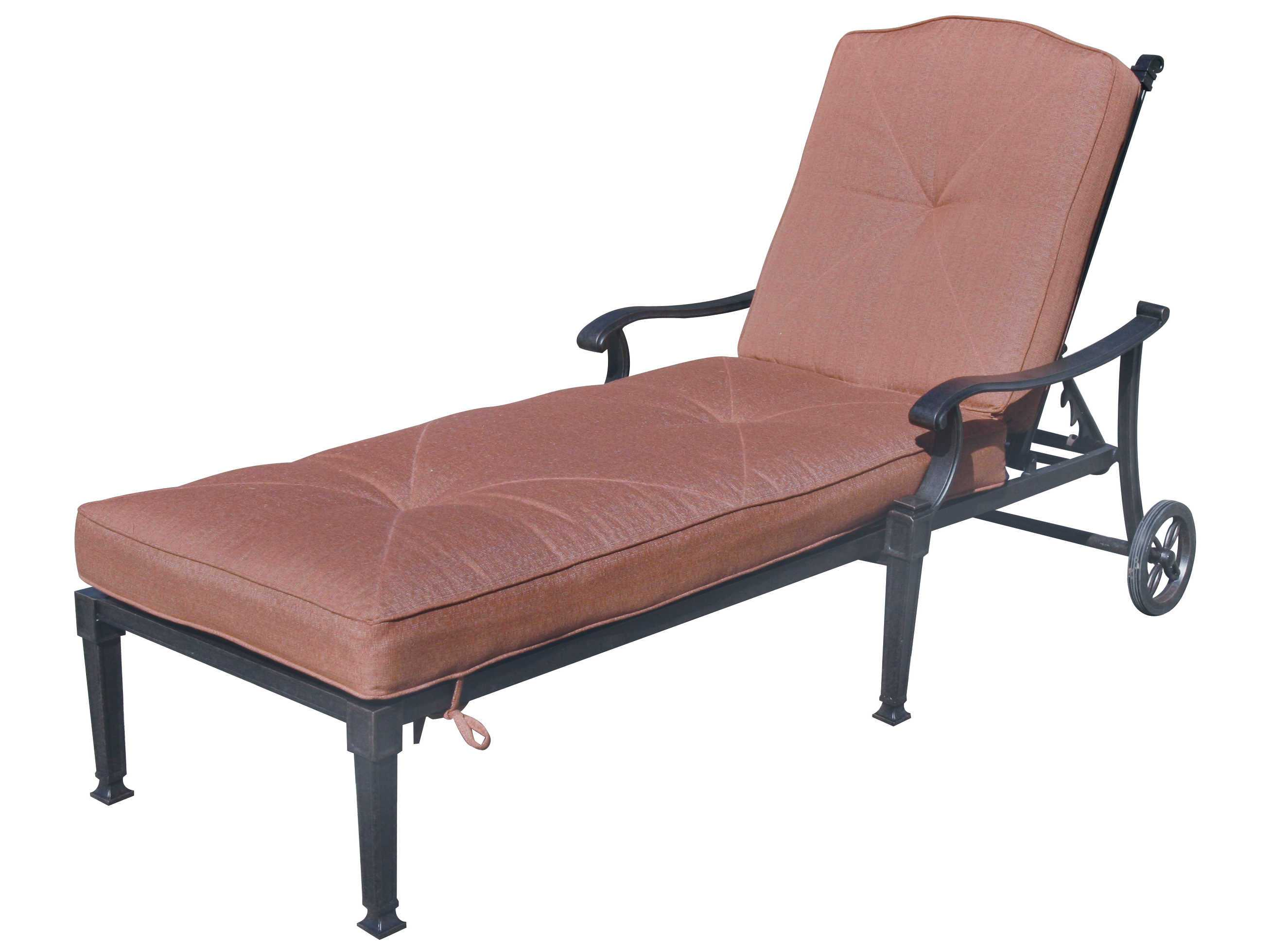 Darlee outdoor living charleston cast aluminum antique for Bronze chaise lounge