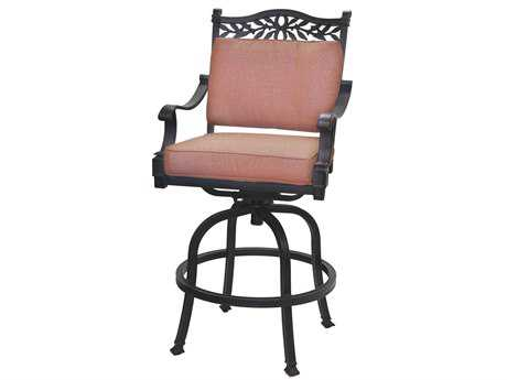 Darlee Outdoor Living Standard Charleston Cast Aluminum Antique Bronze Swivel Bar Stool