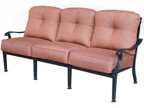 Darlee Outdoor Living Charleston Cast Aluminum Antique Bronze Sofa