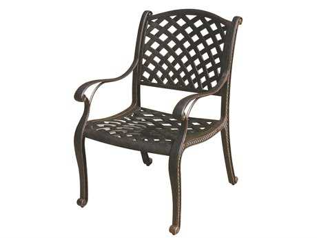 Darlee Outdoor Living Standard Nassau Cast Aluminum Antique Bronze Dining Chair PatioLiving