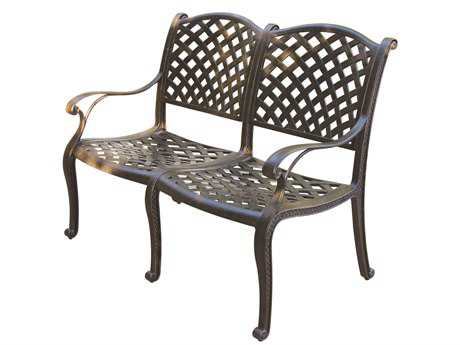 Darlee Outdoor Living Standard Nassau Cast Aluminum Antique Bronze Bench