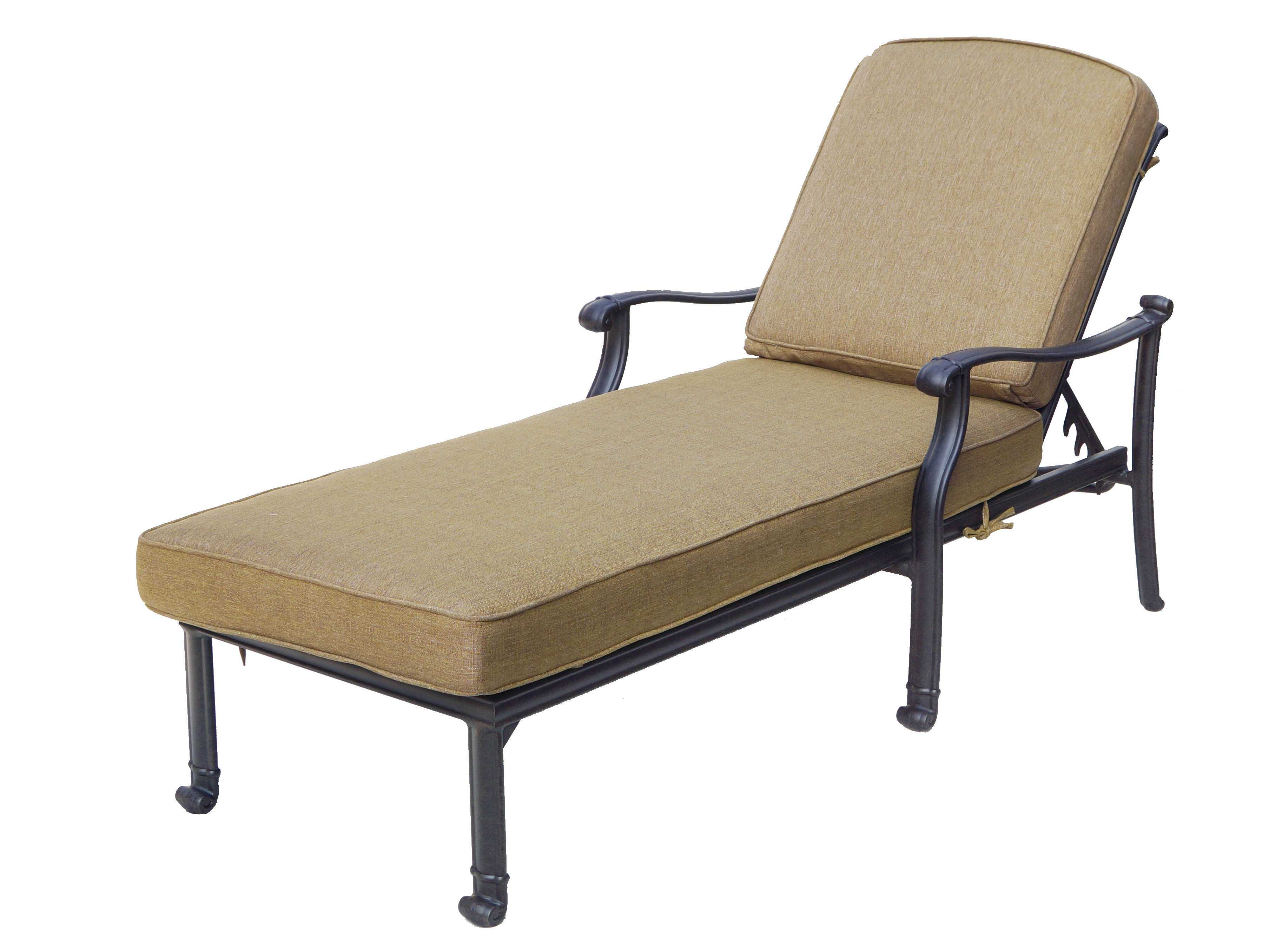 Darlee outdoor living standard san macros cast aluminum for Aluminum patio chaise lounge