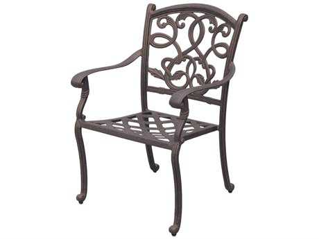 Darlee Outdoor Living Standard Santa Monica Cast Aluminum Antique Bronze Dining Chair PatioLiving
