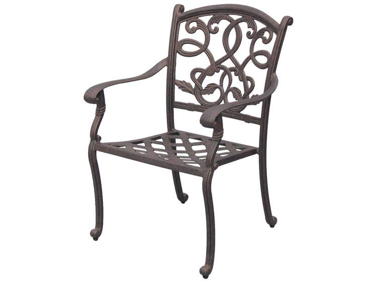 Darlee Outdoor Living Standard Santa Monica Cast Aluminum Antique Bronze Dining Chair