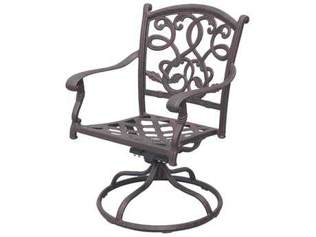 Darlee Outdoor Living Standard Santa Monica Cast Aluminum Antique Bronze Swivel Rocker Chair PatioLiving