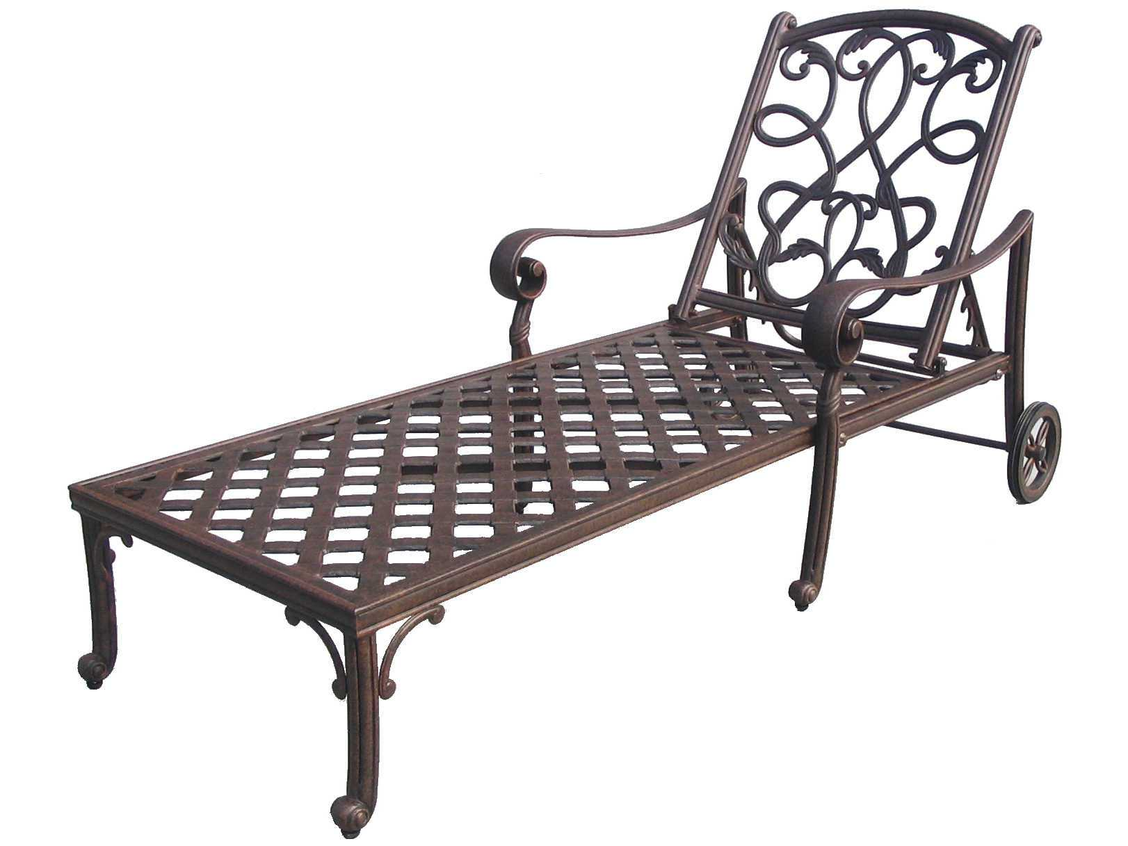 Darlee outdoor living standard santa monica cast aluminum for Bronze chaise lounge