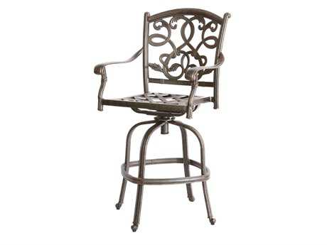 Darlee Outdoor Living Standard Santa Monica Cast-Aluminum Antique Bronze Swivel Bar Stool