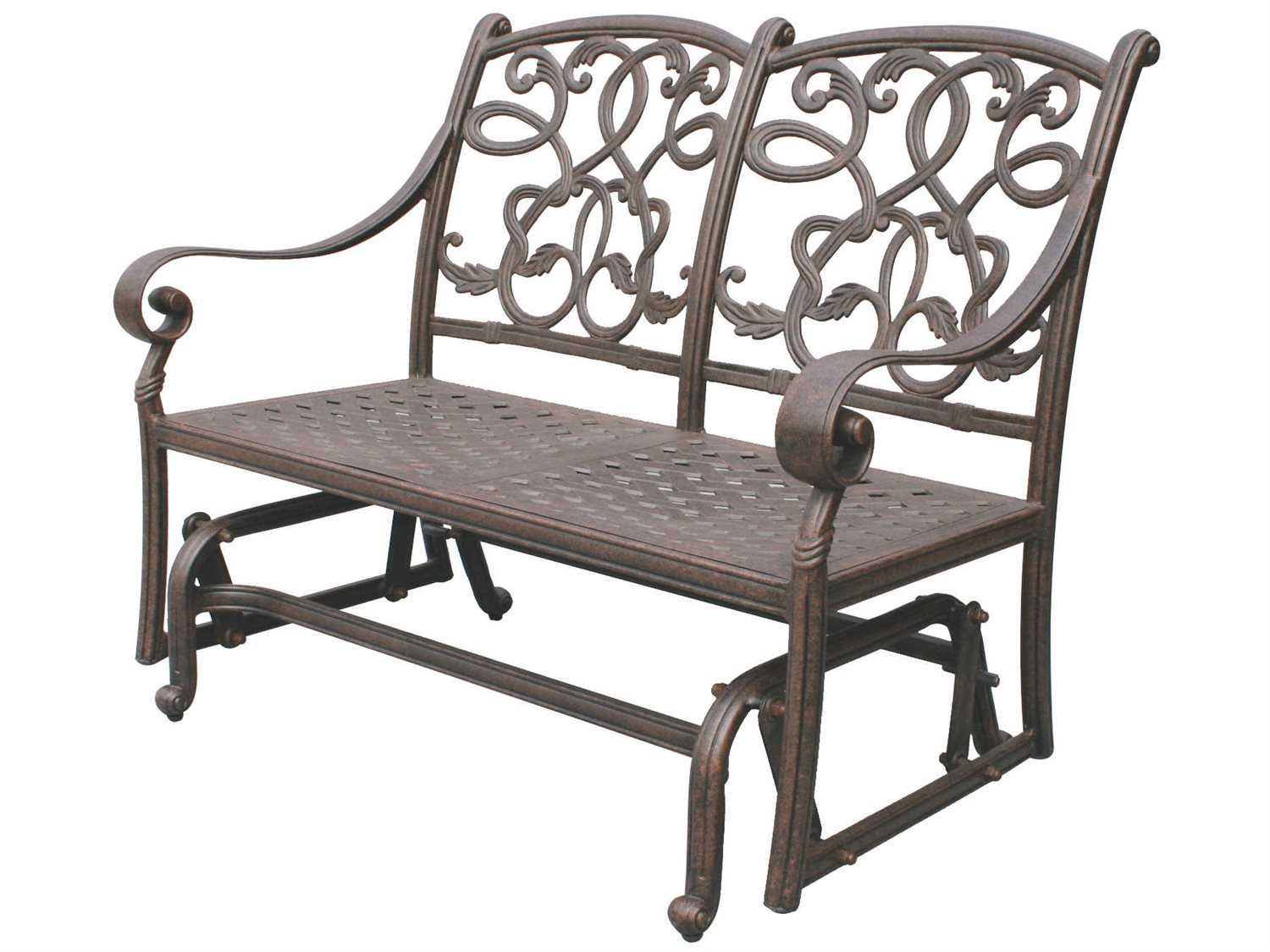 darlee outdoor living standard santa monica replacement loveseat glider seat and back cushion. Black Bedroom Furniture Sets. Home Design Ideas