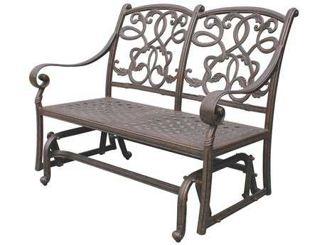 Darlee Outdoor Living Standard Santa Monica Cast Aluminum Antique Bronze Glider Loveseat