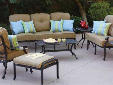 Darlee Outdoor Living Standard Santa Monica Cast Aluminum Antique Bronze Lounge Set