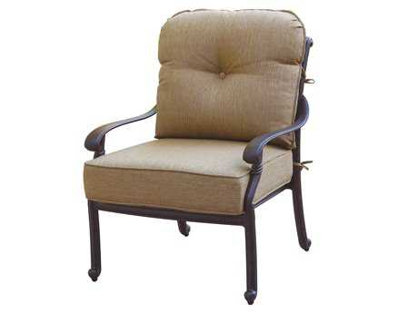 Darlee Outdoor Living Quick Ship Santa Monica Cast Aluminum Antique Bronze Club Chair