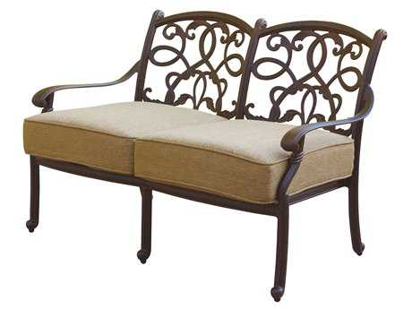 Darlee Outdoor Living Standard Santa Monica Cast Aluminum Antique Bronze Loveseat DADL20582