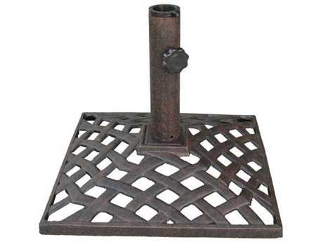 Darlee Outdoor Living Quick Ship Antique Bronze Basket Weave Umbrella Base