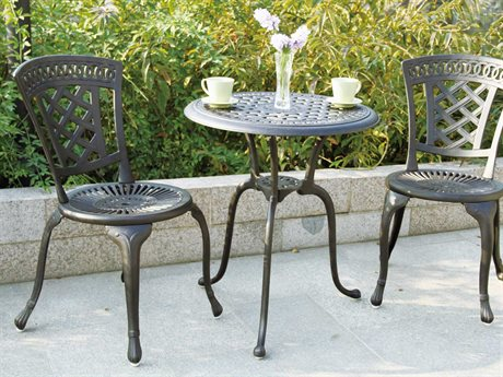 Darlee Outdoor Living Standard New Port Cast Aluminum Antique Bronze Bistro Set
