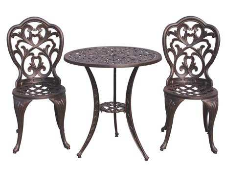 Darlee Outdoor Living Standard Hampton Cast Aluminum Antique Bronze Bistro Set