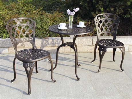 Darlee Outdoor Living Standard San Marino Cast Aluminum Antique Bronze Bistro Set