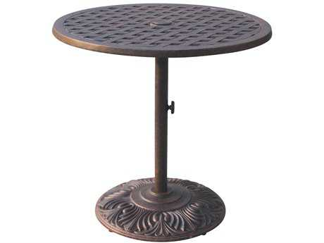 Darlee Outdoor Living Quick Ship Series 30 Cast Aluminum Antique Bronze 30 Round Bar Table