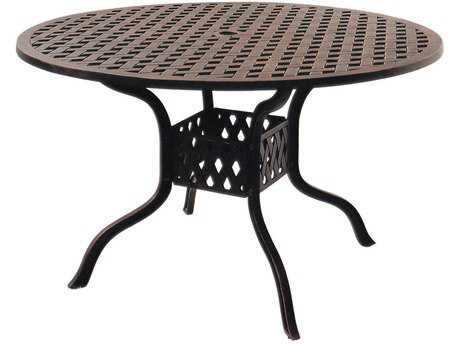 Darlee Outdoor Living Series 30 Cast Aluminum Antique Bronze 48 Round Dining Table PatioLiving