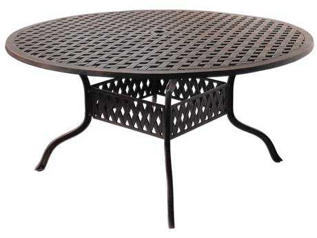 Darlee Outdoor Living Series 3 Cast Aluminum Antique Bronze 60 Round Dining Table PatioLiving
