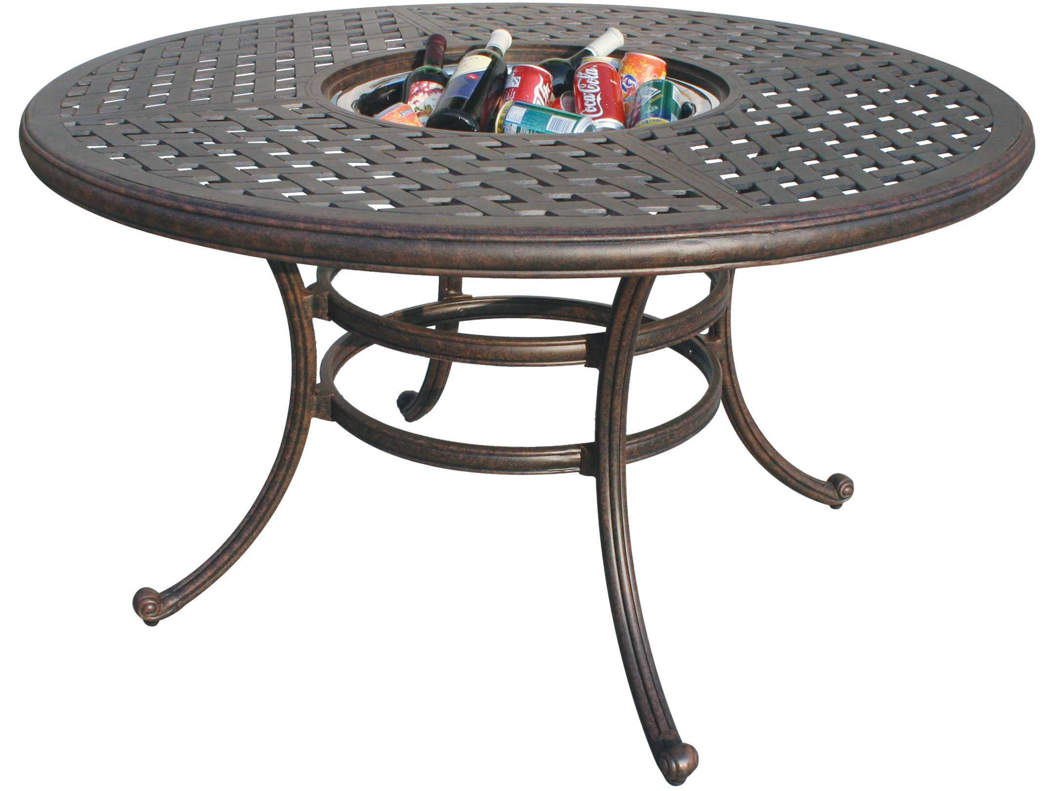 Darlee outdoor living series 30 cast aluminum antique for 52 table view