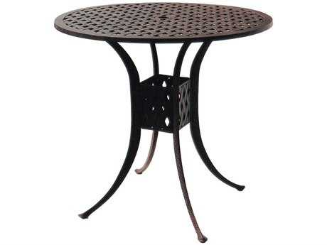 Darlee Outdoor Living Series 30 Antique Bronze Cast Aluminum 42 Round Bar Table PatioLiving
