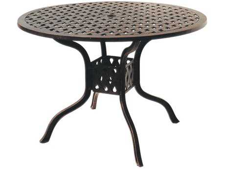 Darlee Outdoor Living Series 30 Cast Aluminum Antique Bronze 42 Round Dining Table