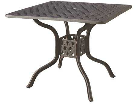 Darlee Outdoor Living Quick Ship Series 30 Cast Aluminum Antique Bronze 36 Square Dining Table