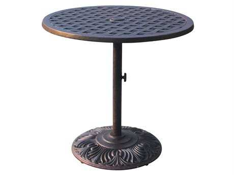 Darlee Outdoor Living Series 30 Cast Aluminum Antique Bronze 30 Round Dining Table PatioLiving