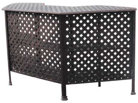 Darlee Outdoor Living Quick Ship Series 30 Cast Aluminum Antique Bronze 82 x 30 Party Bar
