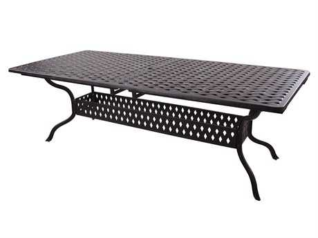 Darlee Outdoor Living Series 30 Cast Aluminum Antique Bronze 92 x 42 Rectangular Dining Table PatioLiving