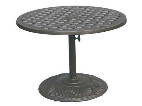 Darlee Outdoor Living Series 30 Cast Aluminum Antique Bronze 30 Round Pedestal Tea Table