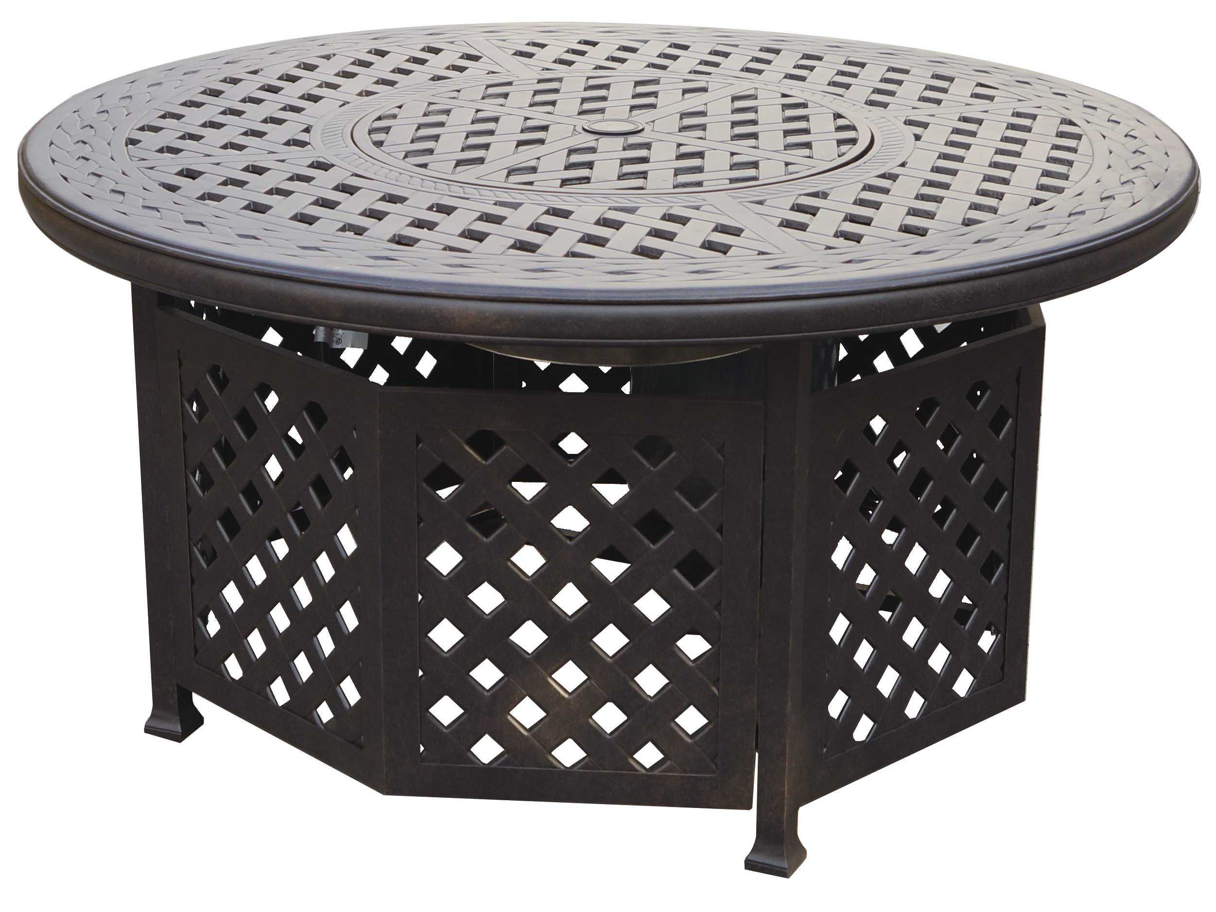 Table Fire Pit : Darlee outdoor living series cast aluminum antique