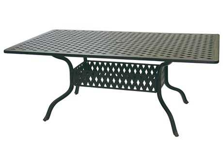 Darlee Outdoor Living Series 30 Cast Aluminum Antique Bronze 72 x 42 Rectangular Dining Table PatioLiving