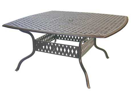 Darlee Outdoor Living Series 30 Cast Aluminum Antique Bronze 64 Square Dining Table PatioLiving