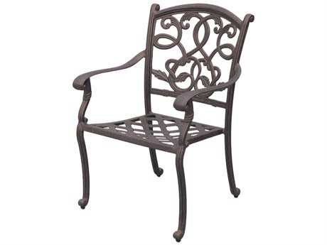 Darlee Outdoor Living Standard Santa Monica Replacement Dining Chair Seat Cushion PatioLiving