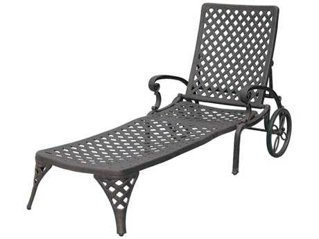 Darlee Outdoor Living Standard Nassau Cast Aluminum Antique Bronze Chaise Lounge