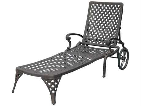 Darlee Outdoor Living Standard Nassau Replacement Chaise Lounge Seat and Back Cushion