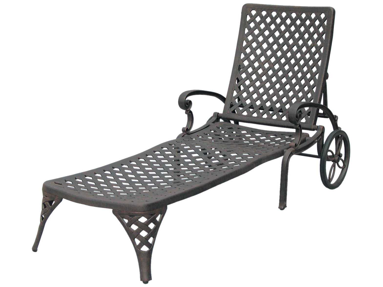 Darlee outdoor living standard nassau cast aluminum for Aluminum outdoor chaise lounge