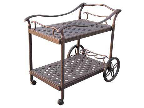 Darlee Outdoor Living Quick Ship Accessories Cast Aluminum Antique Bronze Serving Cart