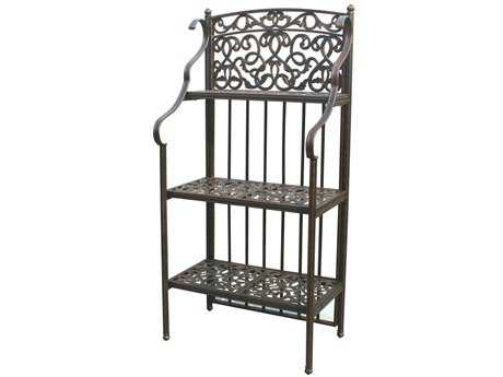 Darlee Outdoor Living Quick Ship Accessories Cast-Aluminum Antique Bronze Baker's Rack