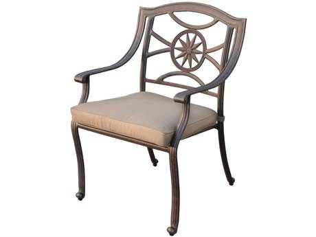 Darlee Outdoor Living Standard Ten Star Cast Aluminum Antique Bronze Dining Chair