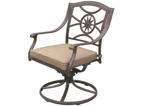 Darlee Outdoor Living Standard Ten Star Cast Aluminum Antique Bronze Swivel Rocker Chair