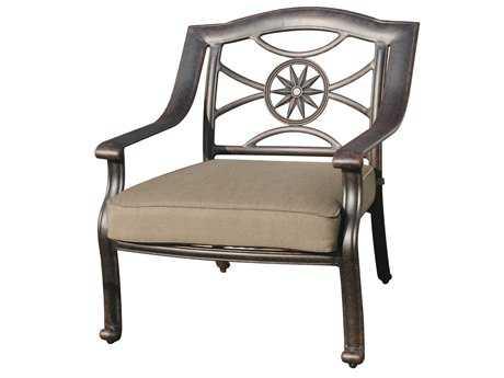 Darlee Outdoor Living Standard Ten Star Cast Aluminum Antique Bronze Club Chair