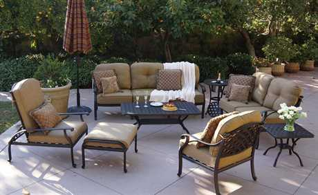 Darlee Outdoor Living Standard Nassau Cast Aluminum Antique Bronze Lounge Set in Antique Bronze