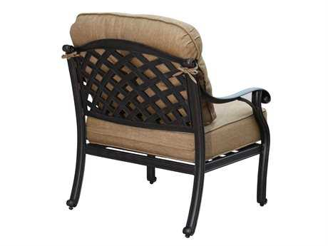 Darlee Outdoor Living Quick Ship Nassau Cast Aluminum Antique Bronze Club Chair