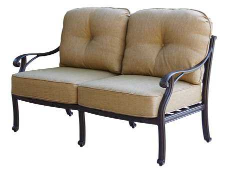 Darlee Outdoor Living Standard Nassau Cast Aluminum Antique Bronze Loveseat PatioLiving