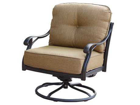 Darlee Outdoor Living Standard Nassau Cast Aluminum Antique Bronze Swivel Rocker Club Chair PatioLiving