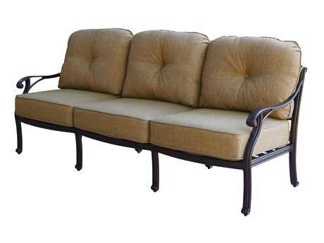 Darlee Outdoor Living Standard Nassau Cast Aluminum Antique Bronze Sofa