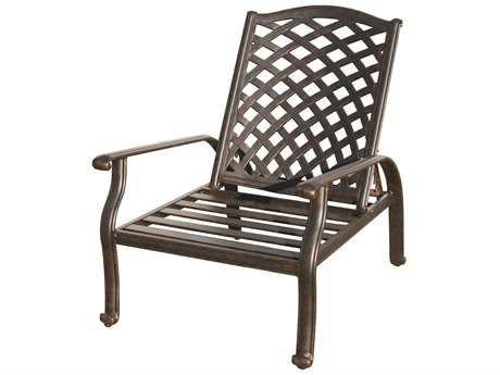Darlee Outdoor Living Standard Nassau Cast Aluminum Antique Bronze Adjustable Club Chair