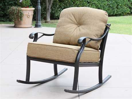 Darlee Outdoor Living Standard Nassau Replacement Classic Club Rocker Chair Seat and Back Cushion PatioLiving